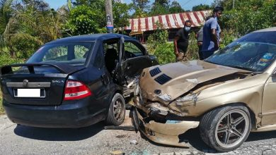 Photo of Road Accident Involving Two Cars in Langkap