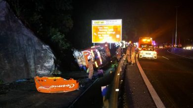 Photo of Road Accident Involving a Bus and 14 Victims Near Ipoh