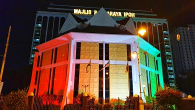 Photo of MBI Lights Up in Solidarity with Palestine and for Ipoh City Day Celebration