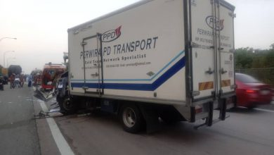 Photo of Accident Involving Two Lorries, One Victim Reported
