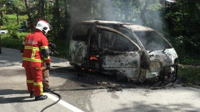 Photo of Vehicle Destroyed by Fire, No Victims Involved