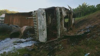 Photo of Lorry Destroyed by Fire, Driver Unscathed