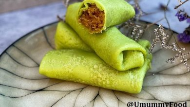 Photo of Recipe: Pandan Rolled Coconut Crepes