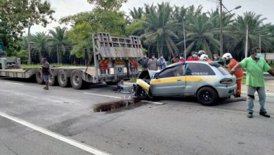 Photo of Accident at Ipoh-Lumut Expressway, One Victim Reported
