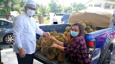 Photo of Durians Distributed to Media Members in Perak
