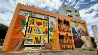 Photo of Tun Razak Library Given a Makeover with New Murals