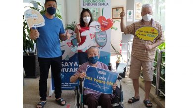 Photo of 101 Years Old Centenarian Vaccinated In Ipoh