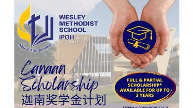 Photo of Wesley Methodist School Ipoh Offers Canaan Scholarship